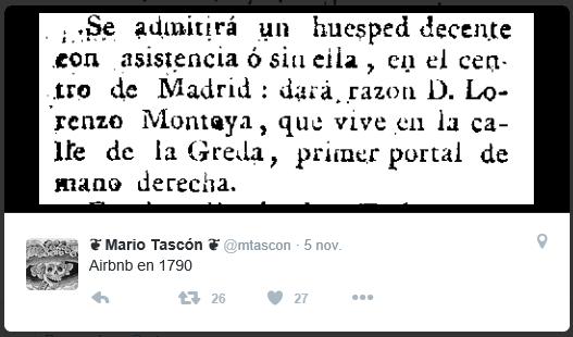 Imagen de un Tweet de Mario Tascon